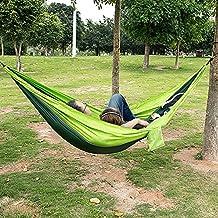 PPOGOO Camping Hamaca 270x140CM 300kg Capacidad de Carga Portátil Ultra Ligera para Viaje y de Nylon
