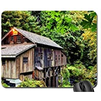 grist mill in the forest Mouse Pad, Mousepad (Houses Mouse (Grist Mill)