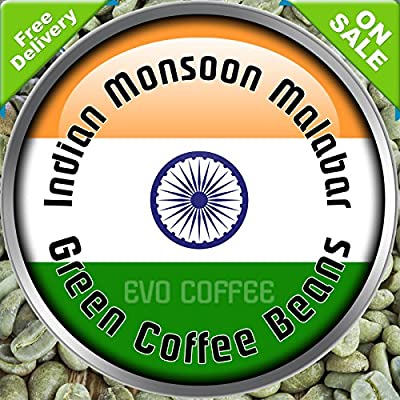 Indian Monsoon Malabar Arabica Raw Green Coffee Beans Home Roasting 1kg from Evocoffee