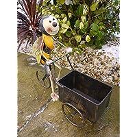 Best Value Here 2kk Bumble Bee Bike Planter Garden Animal Ornament Rustic Metal Bicycle Flower Plant Pot Decor Indoor Outdoor