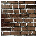 #6: WINOMO 3D Brick Wallpaper Wall Stickers Self-adhesive Wall Decal Home Decor 17.7x39.4 inch