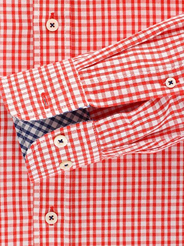 CASAMODA Herren Businesshemd langarm Casual Fit Rot