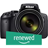 Renewed  Nikon Coolpix P900 16.0MP Point and Shoot Camera  Black  with 83x Optical Zoom, Card and Camera Case