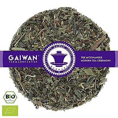 """N° 1262: bio """"Thé amincissant"""" - feuilles de thé issu de l'agriculture biologique - GAIWAN® GERMANY - honeybush, menthe de épi marocaine, yerba maté, ortie, détox, Bancha du Japon, thé pu-erh de Chine"""