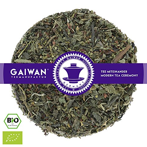 N° 1262: Tè alle erbe biologique in foglie'Slimming Tea: Dieta Dimagrante et Perdita di Peso' - 250 g - GAIWAN GERMANY - tè in foglie bio, honeybush, nana menta, mate verde, ortica, tè detox, Bancha