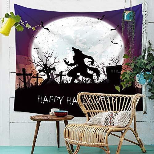 (Wandteppich, Sitzdecke Halloween Wandbehang Tuch Polyester Wandhalterung Druck Strandtuch Home Wanddekoration TV Hintergrund Wand Schlafzimmer Wohnzimmer Hängen ( Color : 004 , Size : 230cm*150cm ))