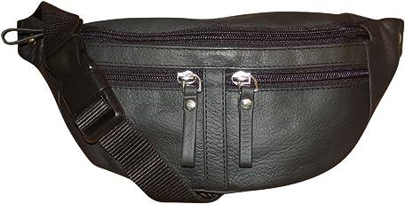Style98 Black Genuine Leather Waist Pack For Men,Boys,Girls & Women