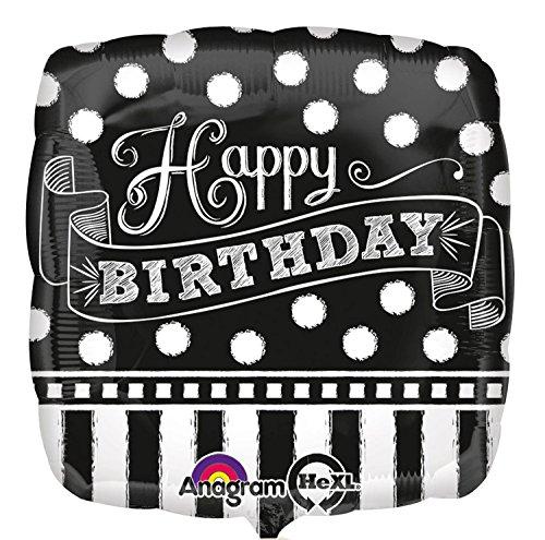 amscan 3092701 Happy Birthday Tafel Folienballon, Mehrfarbig