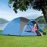 Kuppelzelt Kiwi NZ, blau/grau, 2 Personen, Campingzelt, 3000mm Wassersäule, Zeltboden wasserdicht
