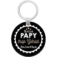 Porte clés à personnaliser avec prénom PAPY trop génial - cadeau personnalisé papy - porte clé papy - idée cadeau fête…