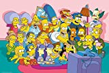 GB Eye 61 x 91,5 cm The Simpsons Sofa Cast Maxi-Poster, Mehrfarbig