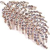 Hojas Plumas Diamantes Imitación Broche Broches De Plumas De Diamantes De Imitación Brillantes Para Mujeres Y Hombres Bufanda