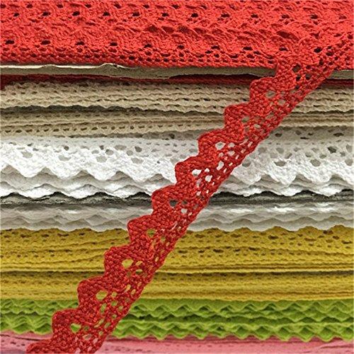 ozxchixu (TM) Nähen Spitzenband Trim Guipure-für Scrapbooking Geschenk Verpackung rot