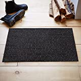 #5: Kuber Industries™ Dirt Rubb Off Clean Footwear PVC Thick Doormat for Offices,Hotel ,Restaurtaurant, Home,Shop Color- Black Size : 60 cm x 38 cm x 1.5 cm