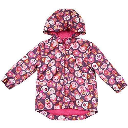 Splash About Kid 's Wasserdichter Regenmantel-Russischen Puppe/DOLLY Print Pink, 1-2Jahre Fleece Track Jacke Kinder