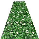 QiangDa Läufer Flur Teppich Blumenmuster Langer Teppich Schmaler Flur Weich Und Bequem, 2 Stile, Mehrere Größen, Anpassbare (Farbe : B, größe : 1 x 2m)