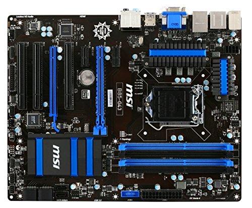 MSI 7816-003R Intel B85 Express Mainboard Sockel LGA 1150 (4x DIMM, 4x SATA III, 2x SATA II, 2x USB 3.0, 6x USB 2.0, VGA, HDMI, DVI-D, ATX)