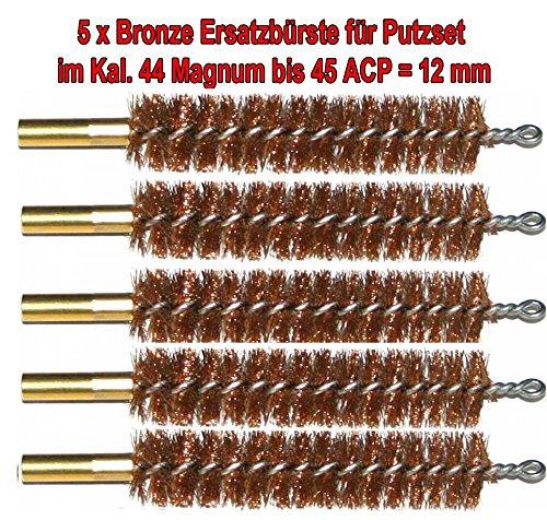 5x Hochwertige Ersatz Bürsten aus Bronze mit hoher Qualität im Kal. 45 / 12mm -