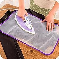 Planchado almohadillas Protector de calor resistente gamuza de malla ropa de planchado Scorch aislamiento alfombrilla protectora Guardia Color al azar, Paquete de 5