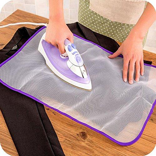 Bügel Pads Schutzhitzebeständige Mesh-Stoff-bügelnde Kleidung Scorch Isolierung Schutzabdeckung Mat Zufällige Farbe (2 Stk)