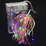 #5: Copper String LED Light 5M 50 LED Multicolor (R,G,B,Y) AA Battery Operated Decorative Fairy Lights