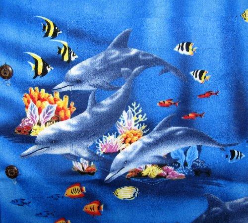 Pacific Legend   Original Hawaiihemd   Herren   S - 4XL   Kurzarm   Front-Tasche   Hawaii-Print   Aquarium Fische Defline   Blau - EINZELSTÜCK Blau