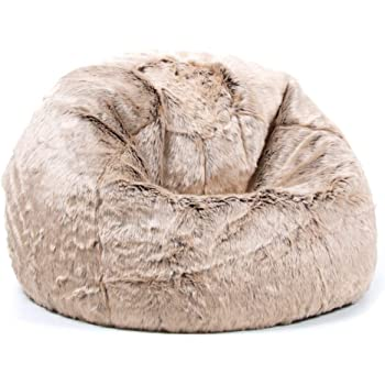 f8d3adb51b icon Large Childrens Classic Faux Fur Bean Bags - Luxury Furry Kids Bean  Bag Chair