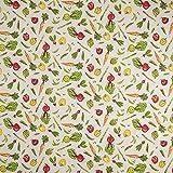 Fabulous Fabrics Dekostoff Halfpanama Gemüse – Beige —