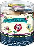 Moses. 26110 Kleine Stempelbox Flowers & Dots mit Stempelkissen