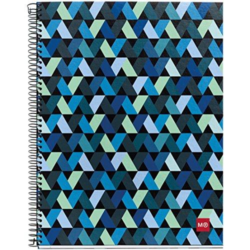 miquel-rius-spiral-bound-ruled-notebook-85-inch-x-11-inch-origami-dark-acrylic-multicoloured
