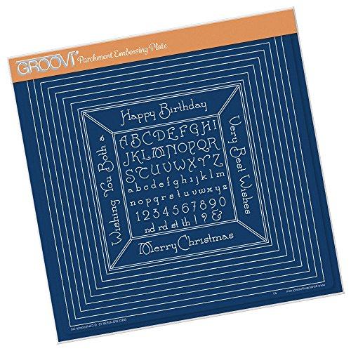 Groovi A4 Assiette carrée – Imbriquées Sqaures et petit Cadre de lettres de l'alphabet