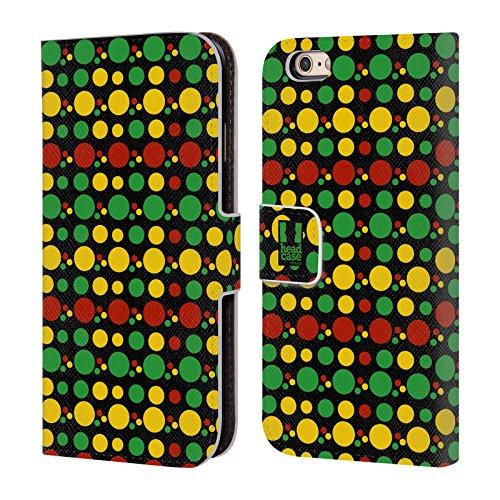 Head Case Designs Aztèque Couleur Rasta - Motifs Étui Coque De Livre En Cuir Pour Apple iPhone 5 / 5s / SE Cercle