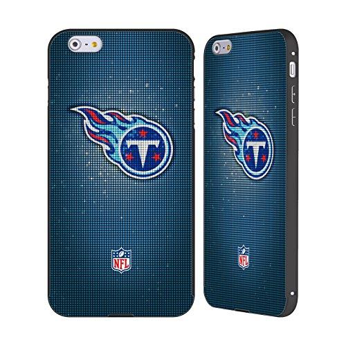 Ufficiale NFL Marmo 2017/18 Tennessee Titans Nero Cover Contorno con Bumper in Alluminio per Apple iPhone 6 Plus / 6s Plus LED