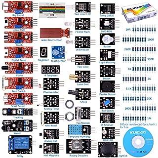 Kuman For arduino Raspberry Pi 37 in 1 starter Kit Sensor Module w/Free Tutorial for Arduino UNO R3 Mega2560 Nano K5