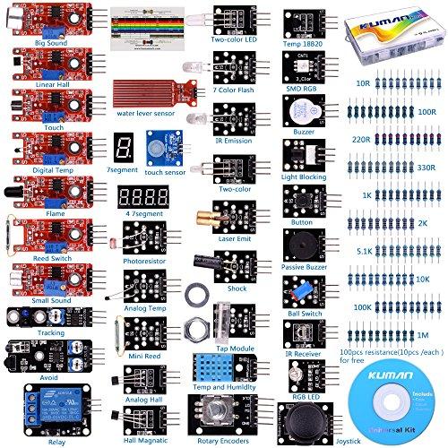 37 in 1 Sensor module for Arduino Raspberry Pi Projects 4 3B+ model B+ B A A+ Starter Kit K5