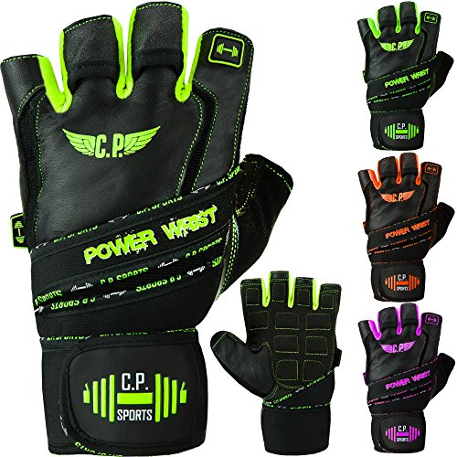 C.P. Sports Power-Wrist Handschuh, Fitness Handschuhe, Trainingshandschuh, Gewichtheben mit Stabiler Bandage