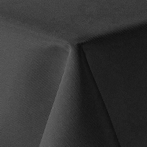 amp-artshop Tischdecke Leinen Optik Eckig 110x180 cm Grau bzw. Anthrazit - Farbe, Form & Größe wählbar mit Lotus Effekt - (Lo_E110x180DGrau)