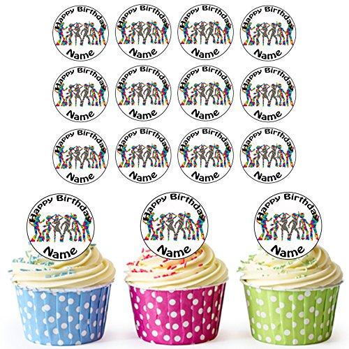onalisierte Hippie Tänzer - Essbare Cupcake Topper / Kuchendekorationen (24 Stück) ()