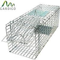 Gardigo Piège pliant capture animaux vivants : fouines, renards, ratons laveurs, lapins, rats | Cage de transport pour chiens, chiots et chats | 66 x 23 x 26 cm