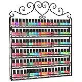Estante de pared para esmalte de uñas, 5plantas mueble de almacenaje para productos cosméticos, cuarto de baño