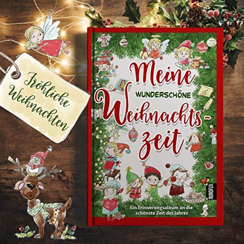 Meine wunderschöne Weihnachtszeit - Ein Erinnerungsalbum für Fotos, Notizen, Rezepte und Bilder rund um die Adventszeit im Format DIN A5 Hardcover Fotobuch als Geschenk für Kinder & Familie - RUNDFUX - Schnee Rezepte