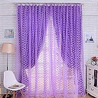 flotal Duschvorhang Fenster Tür Dekoration von Haus 100* 200cm purpur