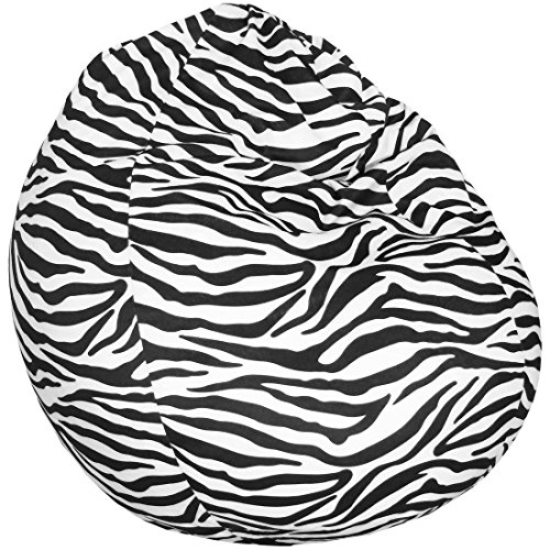 Fashionpillow Animal Sitzsack - Tierfellmuster/Tierfellmotiv Sitzbirne in Tropfenform 75x95cm, Zebra