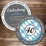 Bierdeckel 75 St. Einladung Geburtstagseinladung mit Ihren Daten; Motiv Bayern, Oktoberfest, Bieruntersetzer, Bierfilz Karte originelle individuelle Einladungskarte, Oktoberfest, Wiesn, Biergarten