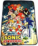 Great Eastern GE-57717 Sonic The Hedgehog Big Group Sublimation Throw Blanket