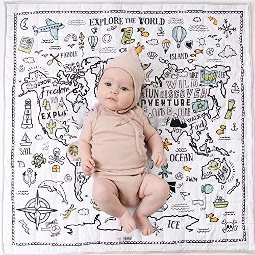 Szseven Baby Geschenk - Baby Krabbeldecke Cute World Animal Print Spielen Teppich Kinder Schlafzimmer Dekor Wohnzimmer Kinder Spielen Gym Matten Krabbeldecke (Animal-print Teppiche Kinder)