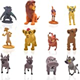 León Cake Topper - YUESEN 12 Piezas Lion King Mini Juego de Figuras Niños Mini Juguetes Baby Shower Fiesta de cumpleaños Past