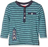 s.Oliver Baby-Jungen Langarmshirt T-Shirt Langarm, Türkis (Turquoise Stripes 66g5), 68