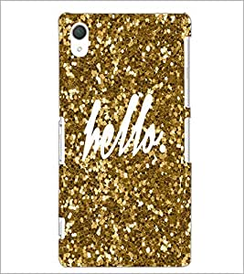 PrintDhaba Hello D-1105 Back Case Cover for SONY XPERIA Z2 (Multi-Coloured)