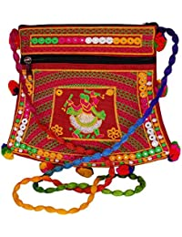 BagaHolics Stylish Rajasthani Jaipuri Art Embroidered HandiCraft Traditional Ethnic Sling Bag Gift For Women &...